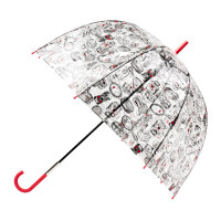 Женский прозрачный зонт-трость Lulu Guinness by Fulton L719 Birdcage-2 Dressing Table (Дамские штучки)