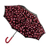 Женский зонт-трость Lulu Guinness by Fulton L723 Bloomsbury-2 Marker Pen Lip (Нарисованные губы)