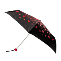 Женский зонт Lulu Guinness by Fulton Minilite-2 L869 Raining Lips (Дождь из губ)