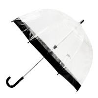 Детский зонт-трость прозрачный Fulton Funbrella-2 C603 - Black (Черный)