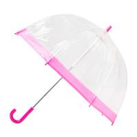 Детский зонт-трость прозрачный Fulton Funbrella-2 C603 - Pink (Розовый)