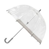 Детский зонт-трость прозрачный Fulton Funbrella-2 C603 - Silver (Серебряный)