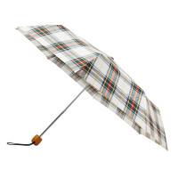 Женский зонт Fulton Stowaway Deluxe-2 L450 White Stewart Tartan (Стюарт тартан)