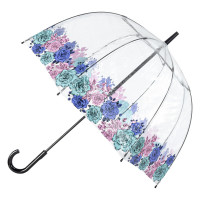 Женский прозрачный зонт Fulton Birdcage-2 L042 Moody Rose (Капризная Роза)