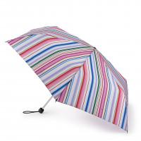 Женский зонт Fulton L902 Superslim-2 Funky Stripe (Разноцветные полоски)