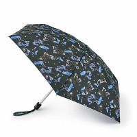 Женский мини (карманный) зонт Fulton L501 Tiny-2 Blue Bird (Синяя птица)