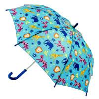 Детский зонт-трость Fulton Junior-4 C724 - Jungle Chums (Джунгли)