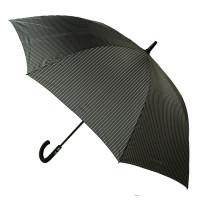 Мужской зонт-трость полуавтомат Fulton Knightsbridge-2 G451 - Black Steel (Черный с серым)