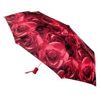 Женский зонт Fulton Open & Close-4 L346 - Photo Rose Red (Красные розы)