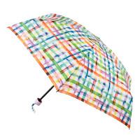 Женский зонт Fulton Soho-2 L859 - Rainbow Check (Радужная клетка)