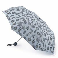 Женский зонт Fulton Stowaway-24 G701 London Landmarks (Достопримечательности Лондона)