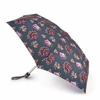 Женский мини зонт Fulton Tiny-2 L501 Steel Roses (Стальные розы)