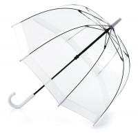 Женский зонт-трость прозрачный Fulton Birdcage-1 L041 - White (Белый)